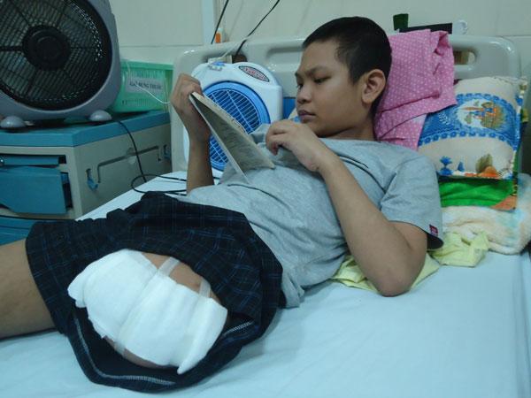 ung thư xương, nghị lực phi thường, nghị lực của bé ung thư xương