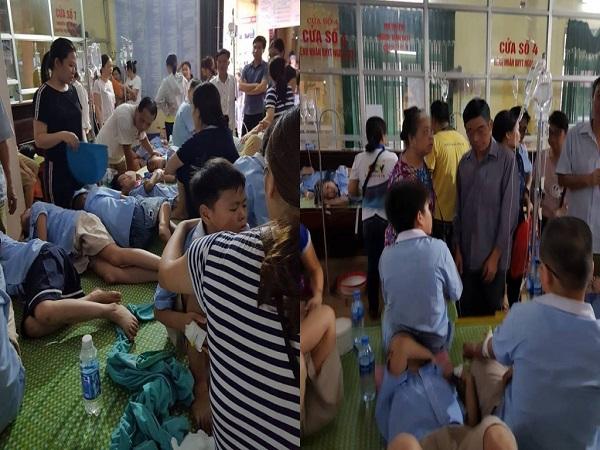 200 học sinh ở Ninh Bình nhập viện vì ngộ độc sau bữa ăn bán trú