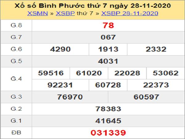 Thống kê XSBP ngày 05/12/2020- xổ số bình phước cụ thể