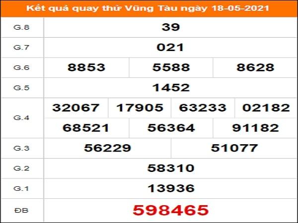 Quay thử xổ số Vũng Tàu ngày 18/5/2021