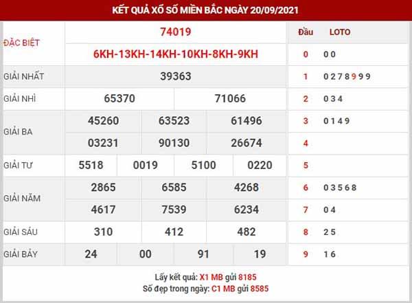 Thống kê XSMB ngày 21/9/2021 - Cung cấp chính xác và sớm nhất thống kê KQXSMB thứ 3 cùng với thống kê tổng hợp giải ĐB, lô VIP, lô gan, đầu đuôi xổ số miền Bắc